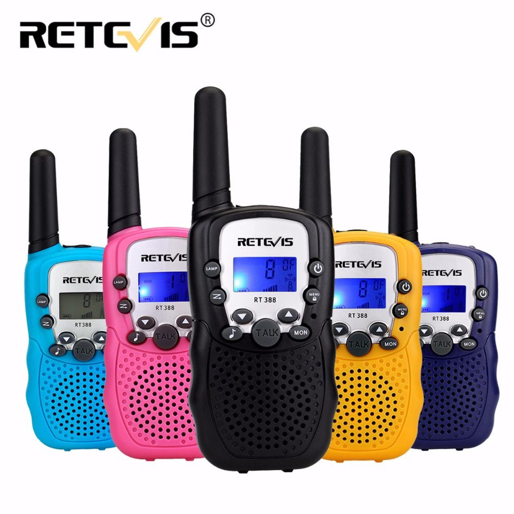 2pcs Retevis RT388 Toy Walkie Talkie Kids Children Radio 0.5W 8/22CH PMR VOX LCD Display Mini Two Way Radio Gift Hf Transceiver