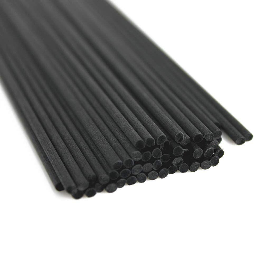 100 pcs/lot 22 cm x 3mm Fiber rotin noir bâtons huile essentielle roseau diffuseur bâtons aromatiques chambre décorer