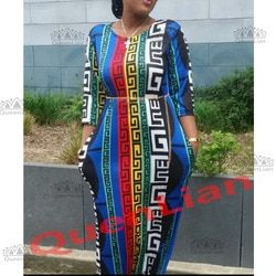 2017 New Fashion 100% Cotton Bazin Print Dashiki Yamadou Elastic Color Pattern Dashiki Dress For Lady
