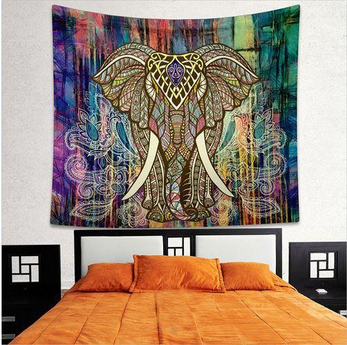 Ameublement bohème Mandala tapisserie tenture murale sable plage pique-nique jeter tapis couverture Camping tente voyage tapis de couchage
