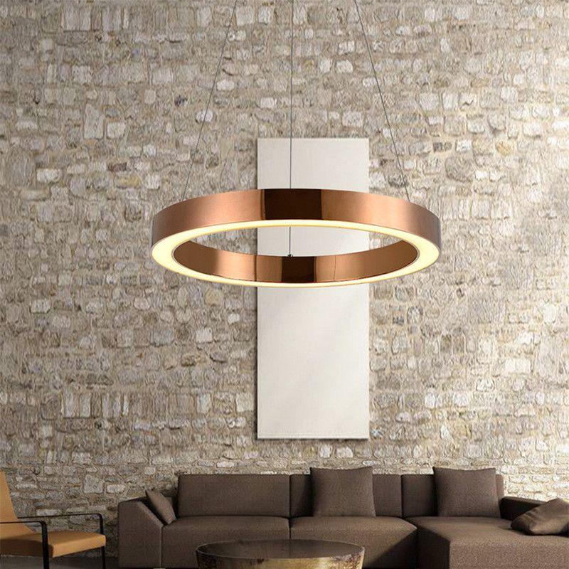 Luminaria de mesa Nordic Modern LED Pendant Light for Hotel Abajur Circle Ring Office Hanging Lamp Home Deco Light Fixtures