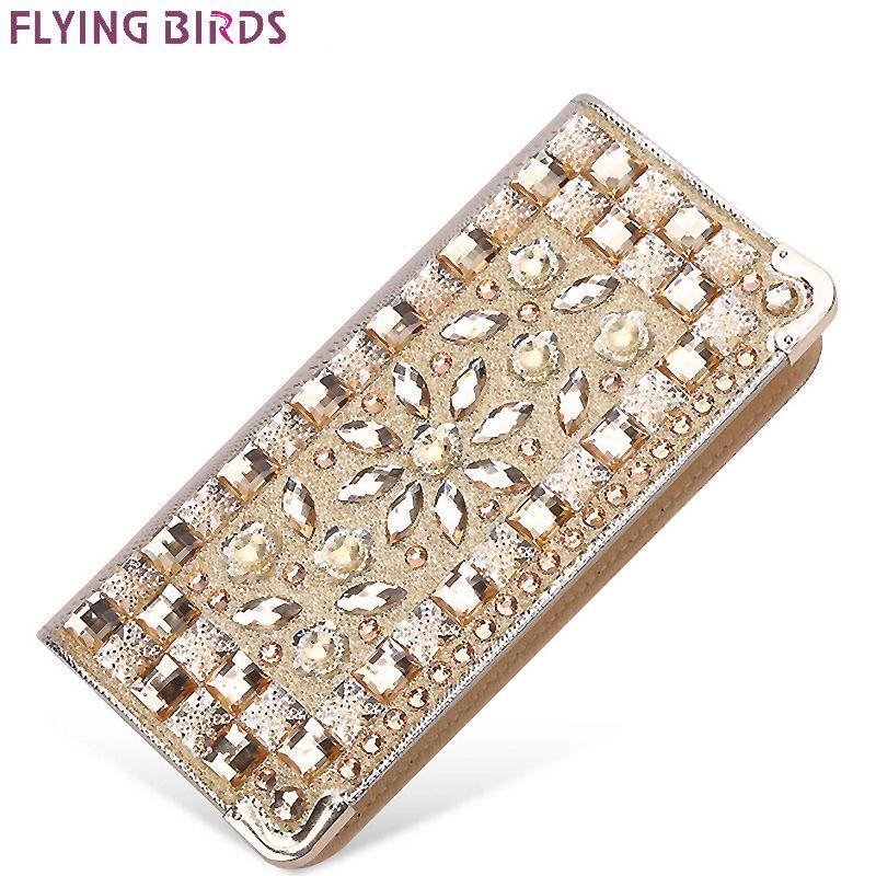 FLYING BIRDS portefeuille pour femmes portefeuilles marques bourse dollar prix Diamant sacs à main designer titulaire de la carte coin sac femelle LM4110fb
