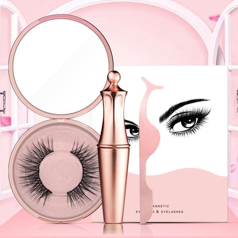 Offre spéciale 5 Eyeliner liquide magnétique et faux cils magnétiques et pince à épiler