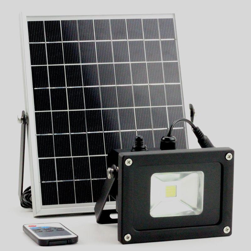 5W/10W solar light solar working lamp garden floodlight with lux sensor & remote control remote control led spotlight outdoor