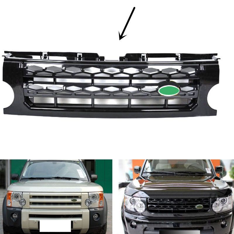For Land Rover Discovery LR4 2014-2017 Black main body Front grille replace trim