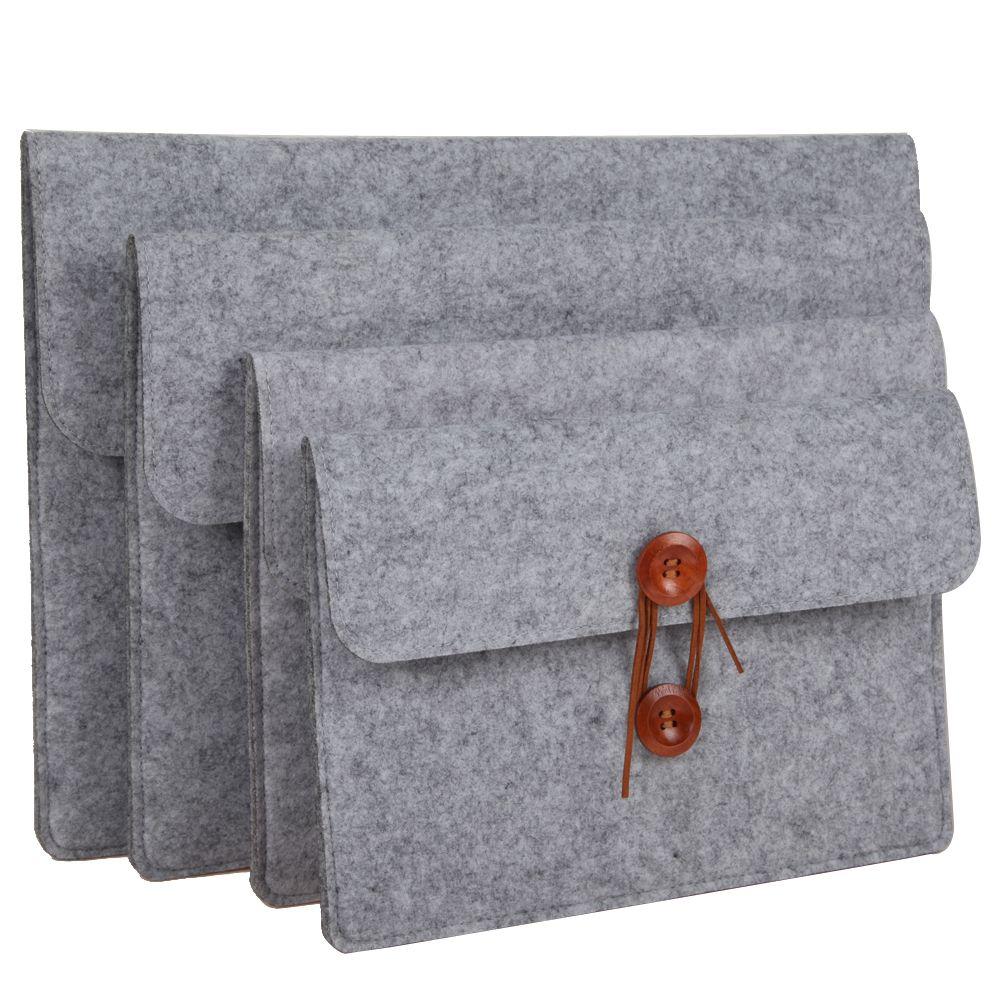 10-15 zoll hülle tasche wollfilz inneren notebook laptop hülsen beutel kasten tragegriff tasche für ipad macbook pro/air samsung