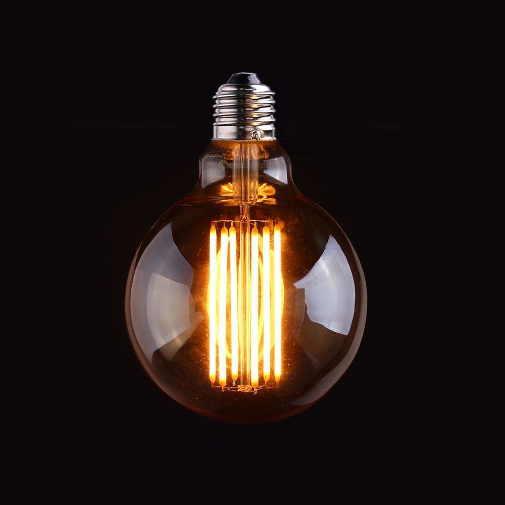 Ampoule à Long Filament Vintage LED, teinte or, Style Globe Edison G95, 4 W 6 W 2200 K, lampe décorative rétro, Dimmable