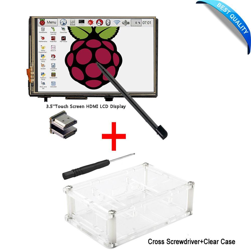 3.5 Pouce LCD HDMI Tactile Écran 1920x1080 LCD Affichage Audio avec Clear Case pour Raspberry Pi 3 Modèle B