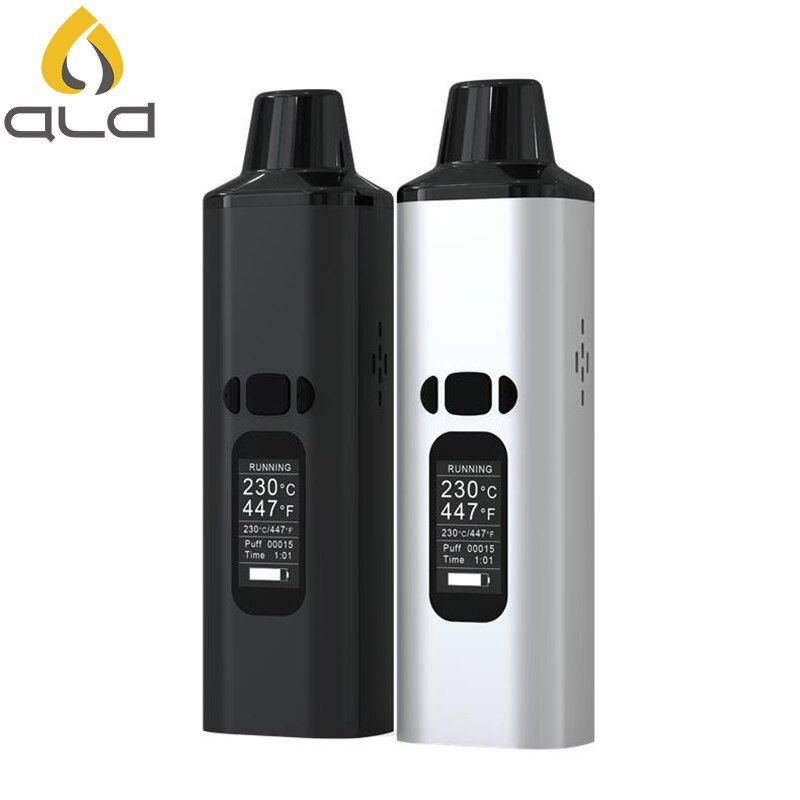 ALD AMAZE dry herb vaporizer kit smoke herbal electronic cigarette vaporizer portable vape pen with 0.96 inch big Oled display