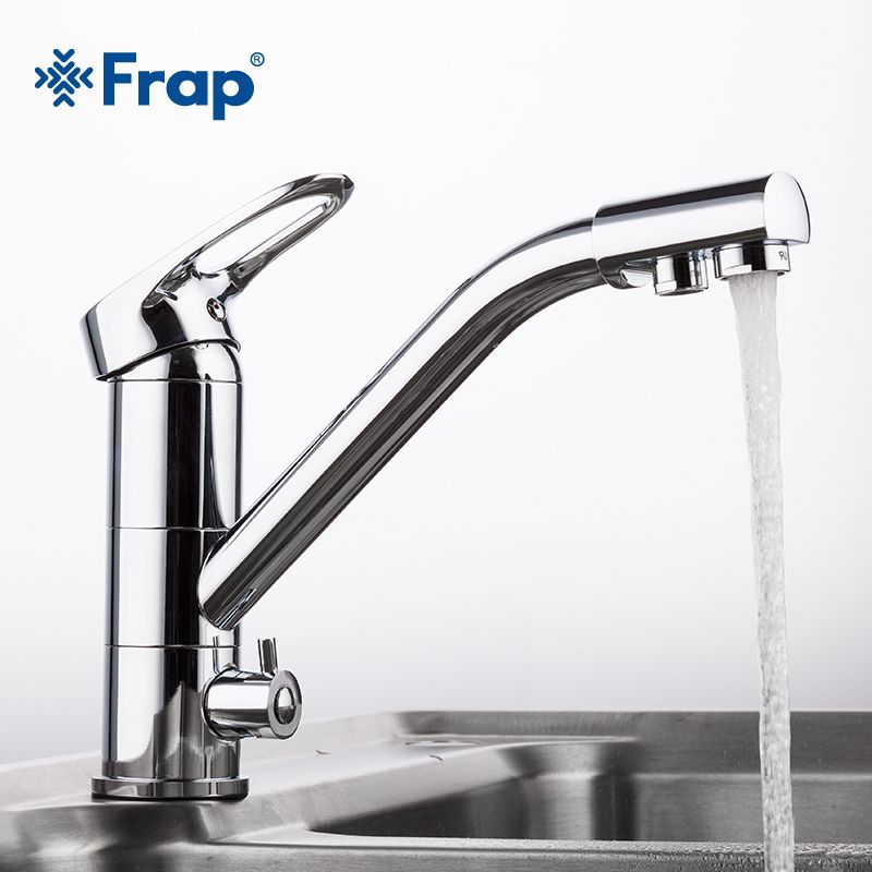 Frap New Arrival Kitchen Faucet Deck Mounted Mixer Tap 360 Degree rotation with Water Purification <font><b>Features</b></font> F4304