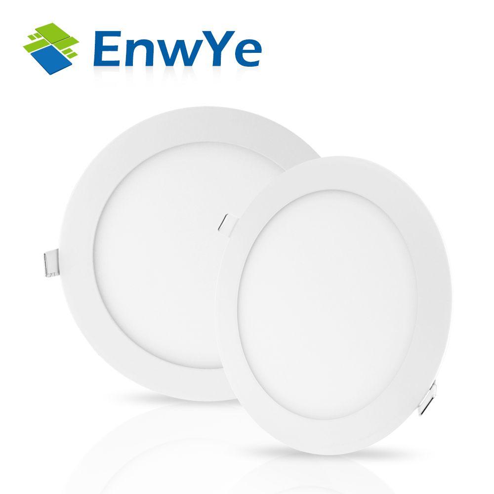 EnwYe Ultra Dünne Led-Panel Downlight 3 watt 4 watt 6 watt 9 watt 12 watt 15 watt 18 watt runde LED Decken Einbau Licht AC85-265V LED Panel Licht SMD2835