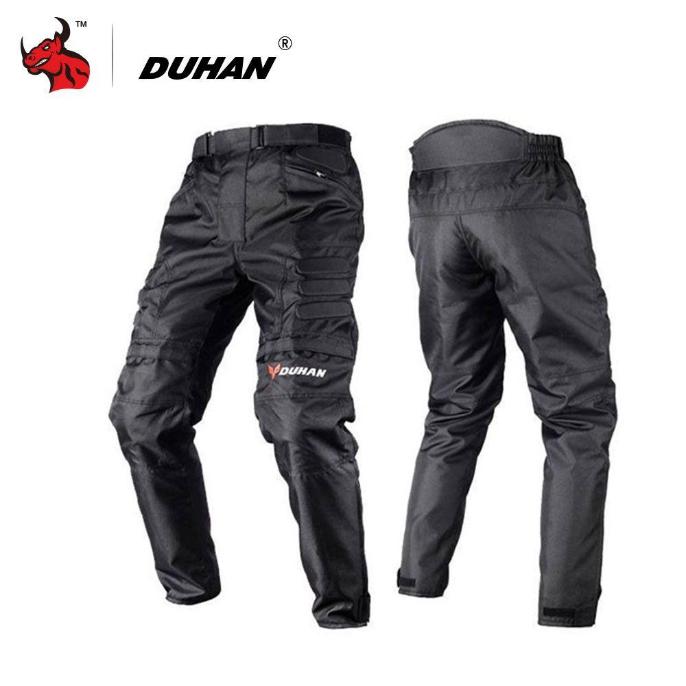 DUHAN Motorcycle Pants Motocross Pants Black Moto Pants Motocross Off-Road Racing Sports Knee Protective Motorcycle Trousers