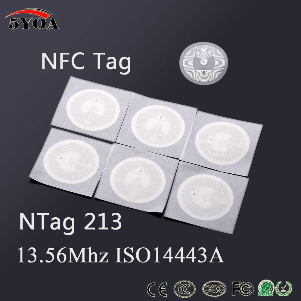 10pcs/Lot NFC TAG Sticker Ntag213 Label RFID Tag  Key Tags llaveros llavero Token Patrol Badge