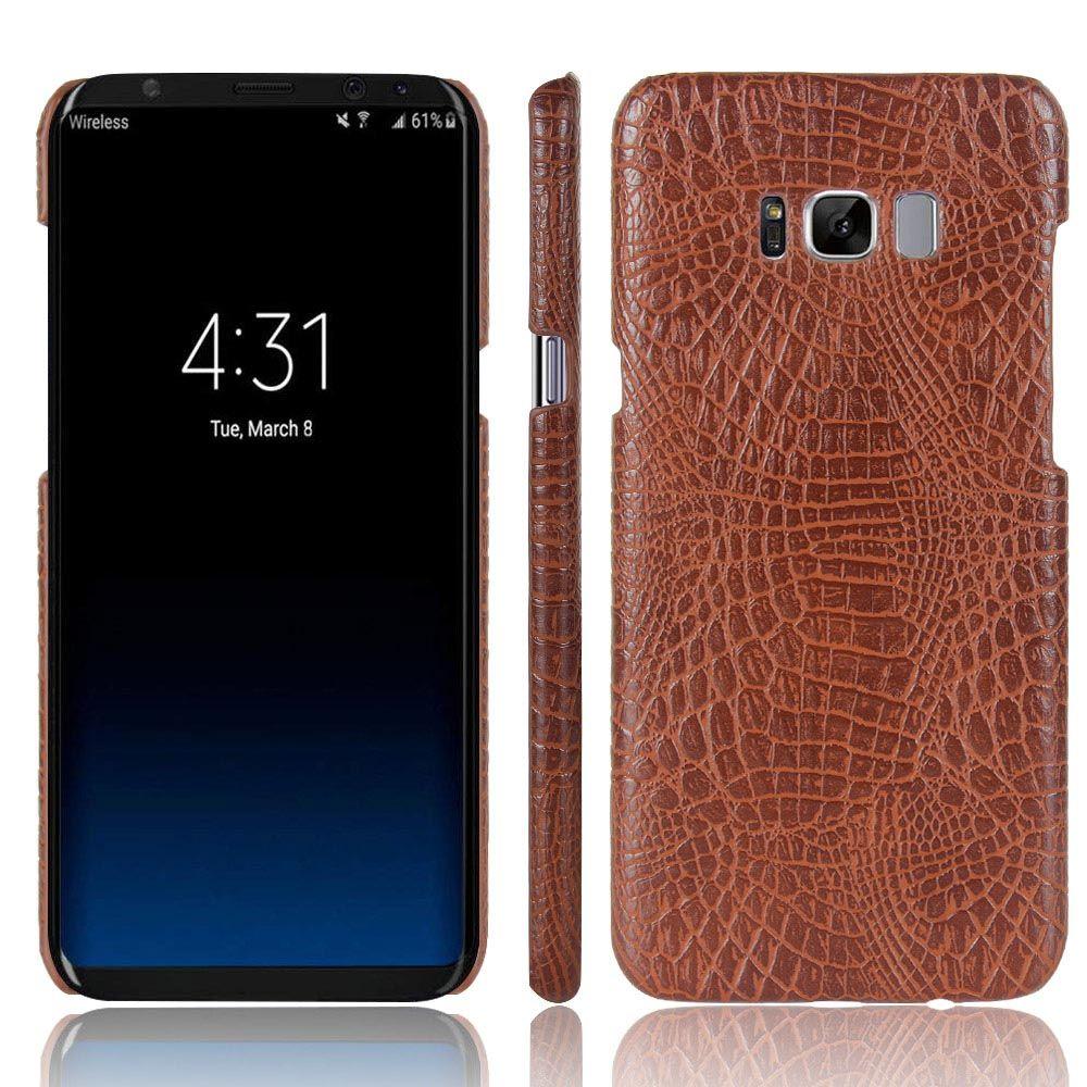 KSQ Krokodilleder PU Leder Telefonkasten Für Samsung GALAXY S8 SM-G9500 G950U Projekt Traum/S8 plus S8 + SM-G9 Fällen Zurück abdeckung