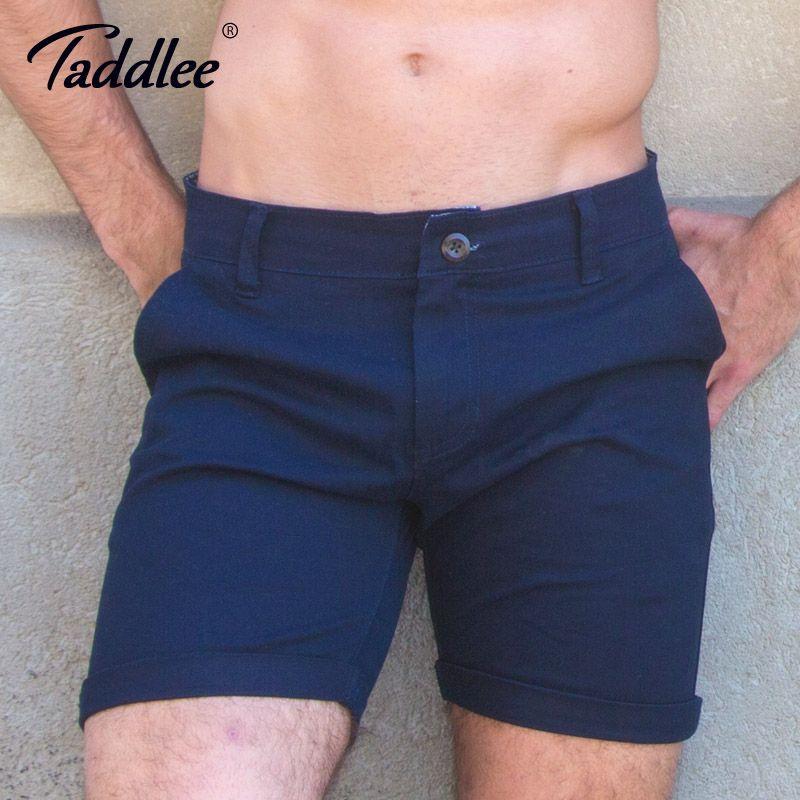 Taddlee Marke Mode Männer Shorts Casual Knielangen Short Böden Einfarbig Badehose Slim Fit Fracht Denim Khaki Workout Shorts