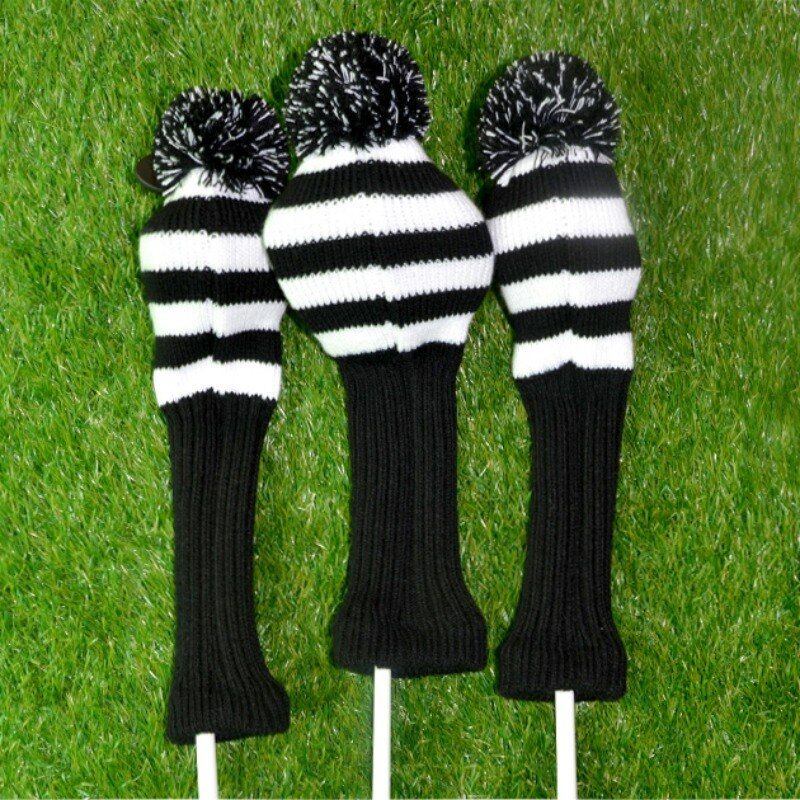 1 компл. шерсти вязать гольф-клубы Набор Фарватерах Вуд Headcovers охватывает гольф набор защиты