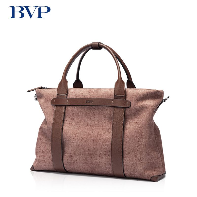 BVP Brand New Fashion Cowhide Male Commercial Briefcase Real Leather Business Men's Messenger Bag Brown Casual Travel Bag j50