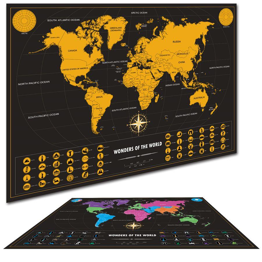 Weltkarte Mit Fahnen UNS Staaten Travel karten poster wandkunst aufkleber dropshipping