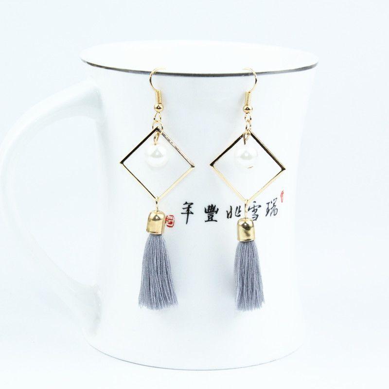 NEW Rhinestone Long Tassel Dangle Earrings for Women Thread Fringe Drop Earrings  e0122hun