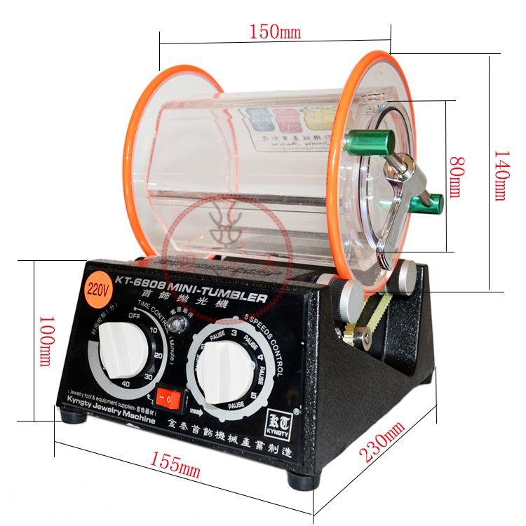 Livraison Gratuite capacité 3 kg Rotary Tumbler machine à polir bijoux polisseuse rotatif finition
