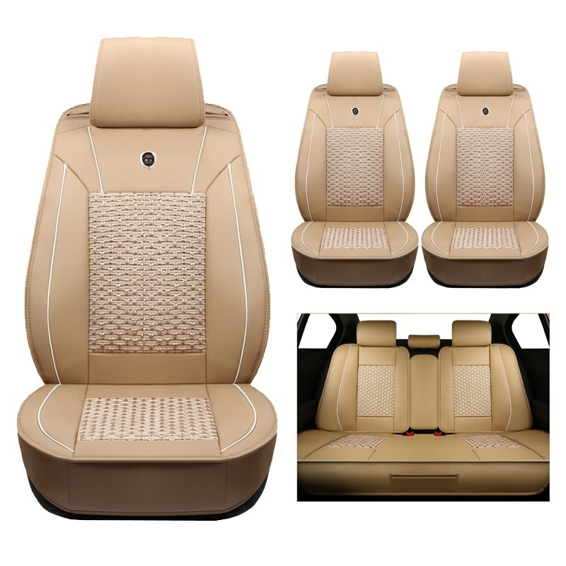 High-quality (leather+silk) Car Seat Covers Alfa Romeo 147 156 159 164 166 4C 8C Brera GT Mito Spider accessories-styling auto