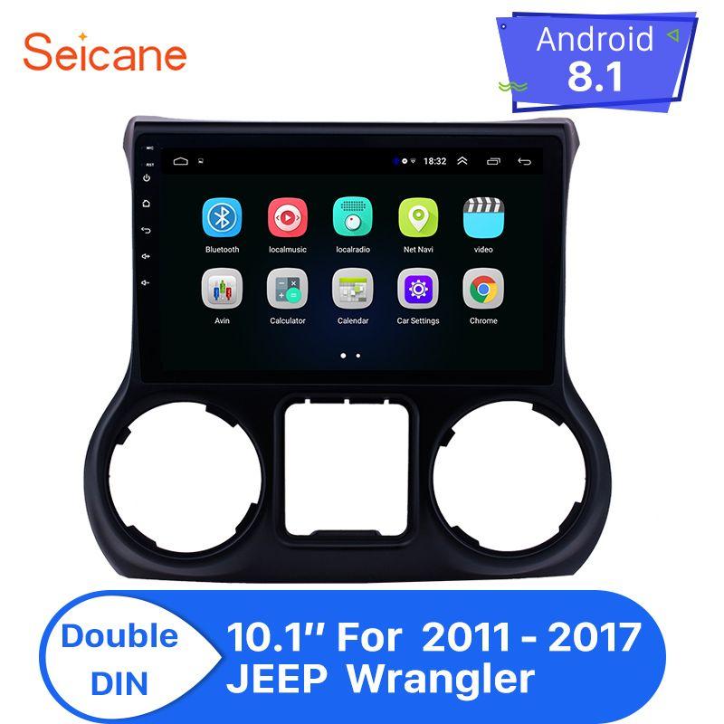 Seicane Android 8.1 10,1 Zoll Auto Radio Stereo Für 2011-2017 JEEP Wrangler links hand stick 2Din GPS Navigation Multimeida player