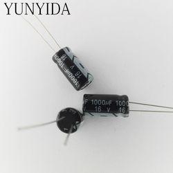 Алюминий электролитический конденсатор с алюминиевой крышкой, 20 шт 16 v 1000 мкФ с алюминиевой крышкой, 50В, 35В, алюминиевая крышка, 25В 16 V 6,3 V 680 мк...