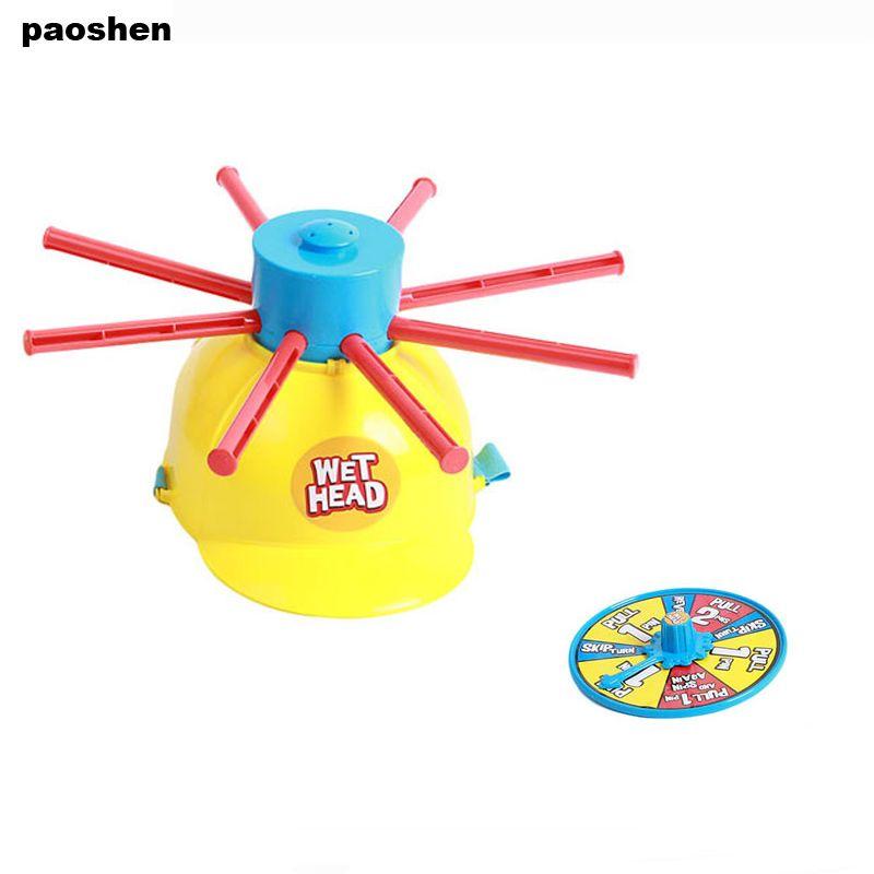 Новый родителей детей мокрой головой вызов весело воды рулетка Семья партии Шутки игры Игрушечные лошадки забавные гаджеты для малыша пода...