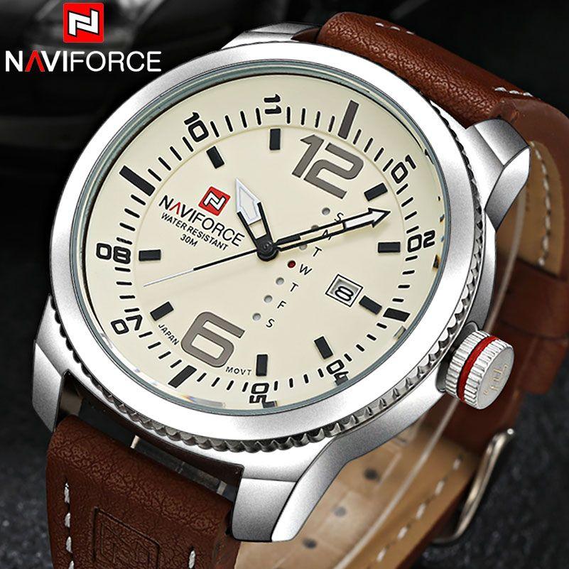 NAVIFORCE Brand Watches Men Quartz Sports Watches 30M Waterproof <font><b>Japan</b></font> Fashion Military Wristwatch Male Relogio Masculino 2018