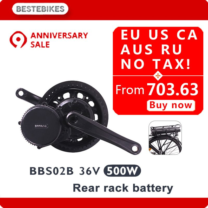 Bafang motor BBS02B 36 V 500 w dame elektrische bike conversion kit elektrische fiets 20/24/26/ 28