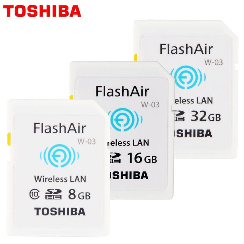 Toshiba 100% Original WIFI SD Card Shared Memory SD Card 32GB Class 10 SDHC Flash Memory WIFI SD Card cartao de memoria 8GB 16G
