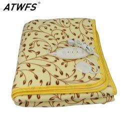 ATWFS высокомощный-класс одеяло с подогревом двойной Электрический плюшевый одеяло влагозащищенный Электрический термостат нагревательный ...