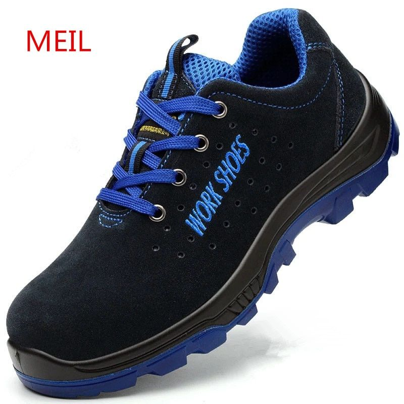 Men Work Safety Shoes Steel Toe Warm Breathable Men's Casual Boots Puncture Proof Labor Insurance Shoes plus size 35-50