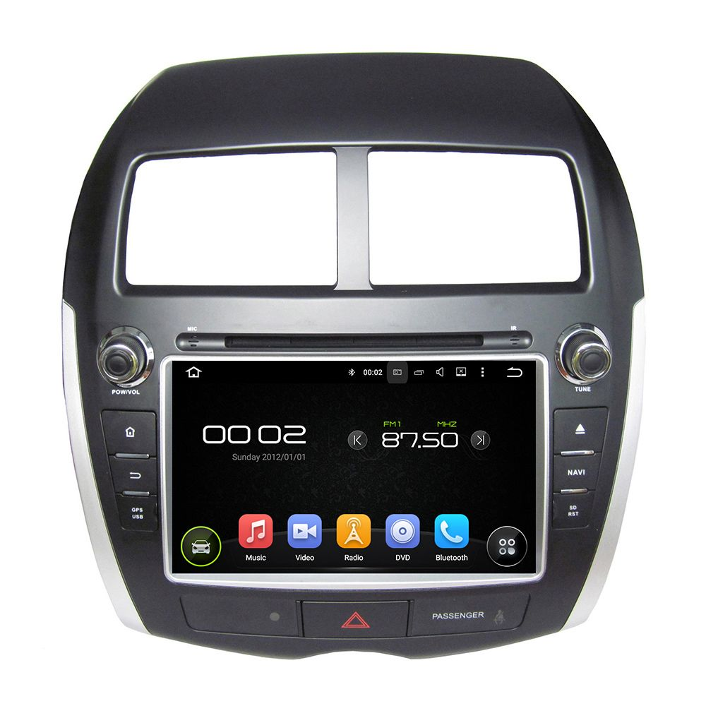 Android 8.0 octa core 4GB RAM car dvd player for MITSUBISHI ASX 2010-2012 ips touch screen head units tape recorder radio