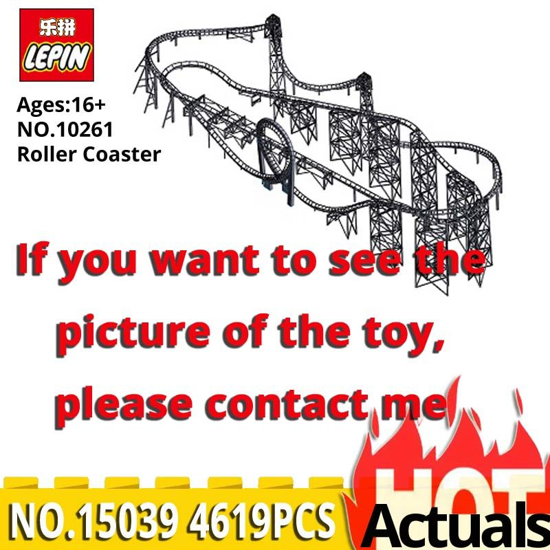 Lepin Creator Series 15039 Roller Coaster Model Assemblage Building Blocks Self locking Bricks Kits Toys compatible legoinglys