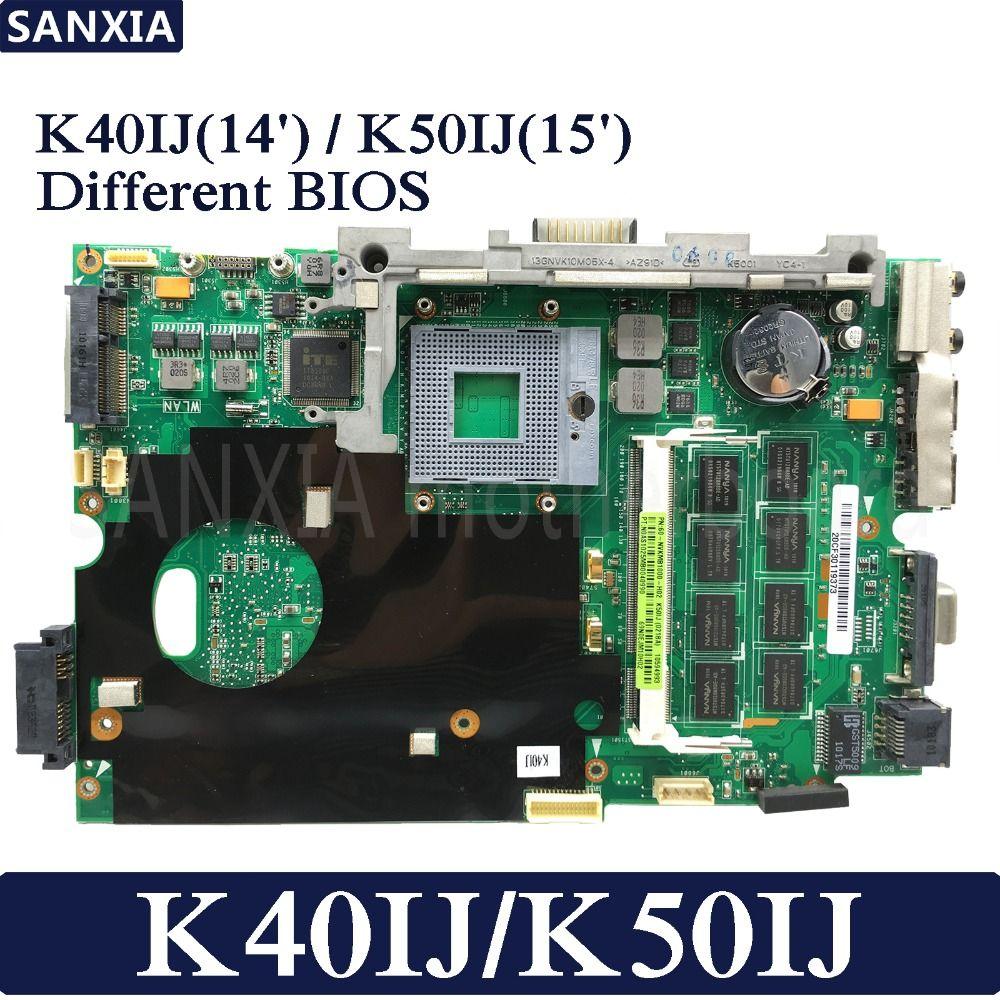 KEFU K40IJ Laptop motherboard for ASUS K40IJ K50IJ K60IJ X5DIJ K40AB K50AB K40 K50 Test original mainboard