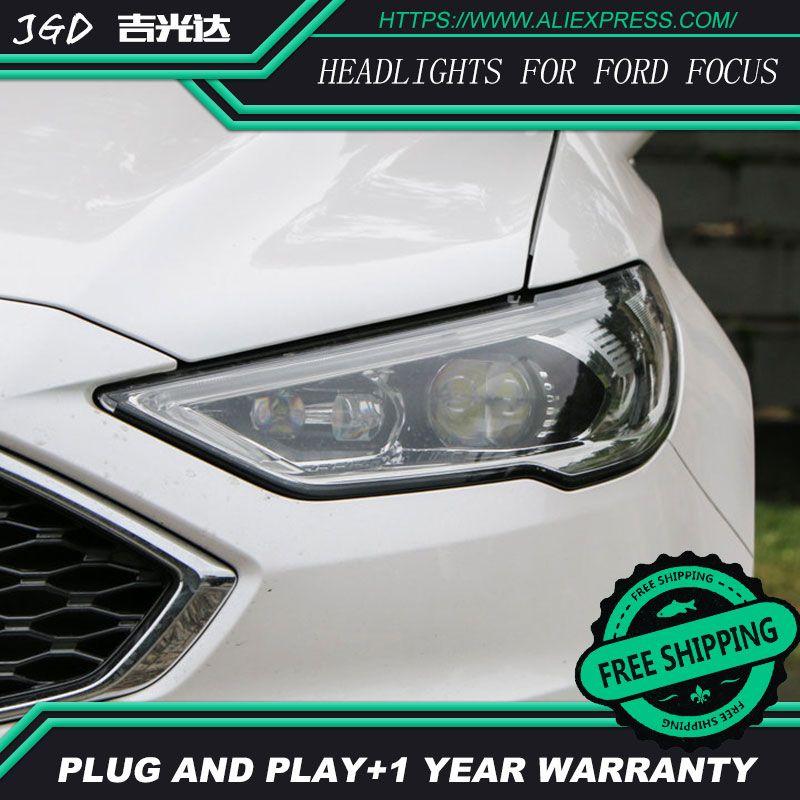 Car Styling Head Lamp for Ford Mondeo 2017 Headlights Mondeo LED Headlight DRL H7 D2H Hid Bi Xenon Beam