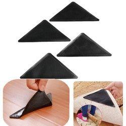 4 pcs/ensemble Réutilisable Lavable Tapis Tapis Tapis Pinces Non Poignée Antidérapante En Silicone Pour La Maison De Bain Salon