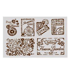 Nouveau 1 pc DIY Artisanat Creux Superposition Pochoirs Pour Mur Peinture Scrapbooking Stamping Timbre Album Décoratif Fournitures Scolaires