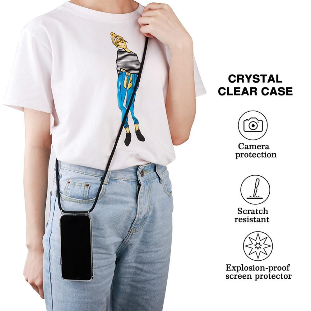 Protective Phone Case Crossbody Necklace Cord Lanyards with Rope for iPhone X 6 7 Plus 8 Plus 5 5S SE XR XS MAX XS accessories