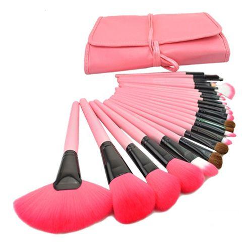 2019 Hot Professionnel 24 pcs Maquillage Brosses Maquillage Pour Vous Brosse Ensemble Rose Maquillage Brosses Y Compris un Cas de Transport de Luxe!