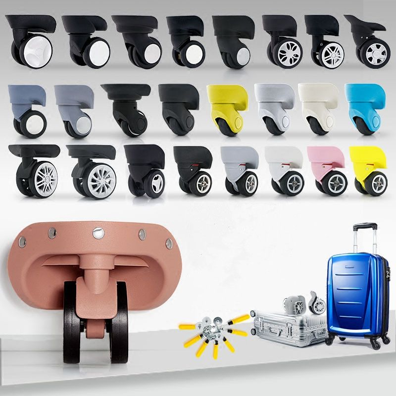 2pcs High quality Luggage Trolley Caster Replacement Office Chair Swivel Casters trolley wheel Rubber Furniture Hardware