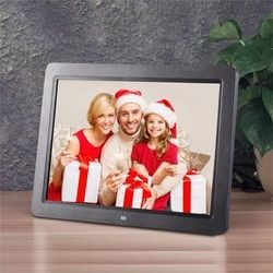 12 Inch HD TFT LED Digital Photo Frame 1280 * 800 Electronic Frame Support Wireless Remote Control