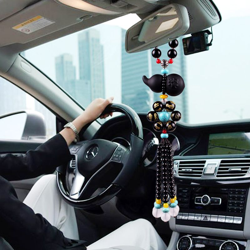 Car pendant cucurbit Lucky & Safe & Fortune pendant fashionable High Quality rearview mirror crystal vehicle jewelry Car styling