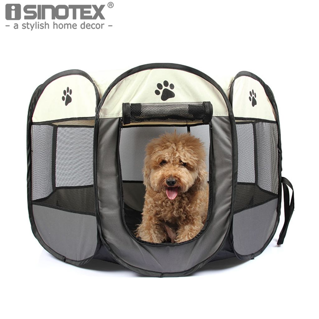 Portable Folding Pet Dog Cat Cage Playpen <font><b>House</b></font> Tent Kennel Easy Operation Comfortable Fence Outdoor Supplies 6 Solid Colors1PCS