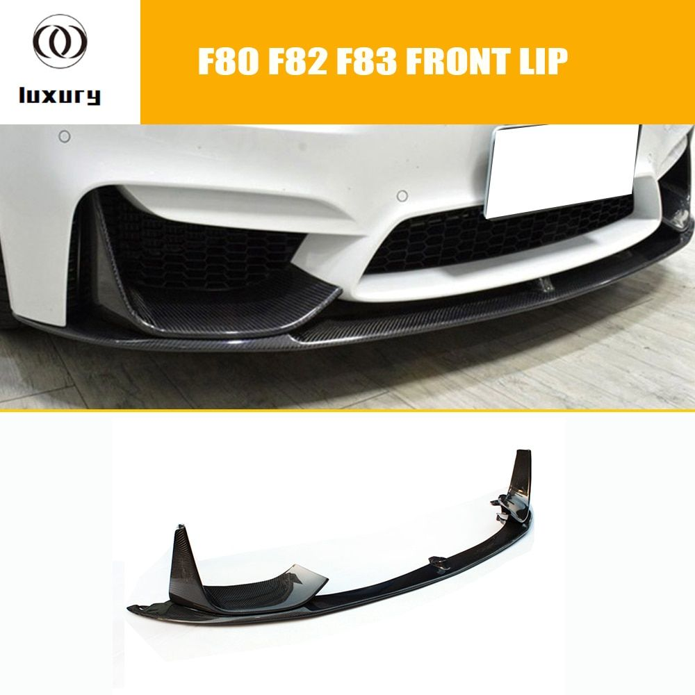 M3 M4 Carbon Fiber Front Bumper Lip Chin Spoiler With Removable Side Splitter for BMW F80 M3 F82 F83 M4 Coupe & Convertible