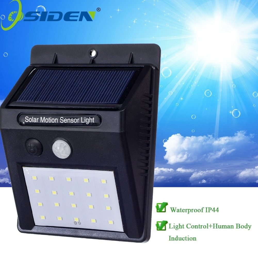 OSIDEN LED Solar Lamp Waterproof 2835smd 20led Solar Light Powered Garden LED Solar Light Outdoor ABS Wall Lamp Stairs Lights