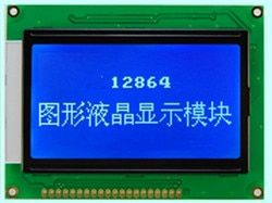 128x64  lcd display module STN blue screen white backlight  5v  graphic  KS0107 KS0108 WH12864A LM12864LFW  free ship 1pcs