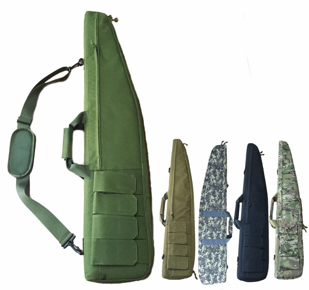 Military Army 120cm Gun Bag Case Paintball Hunting Tactical Airsoft Shooting Rifle Carbine Shotgun Cushion Padded Slip Gun Bag