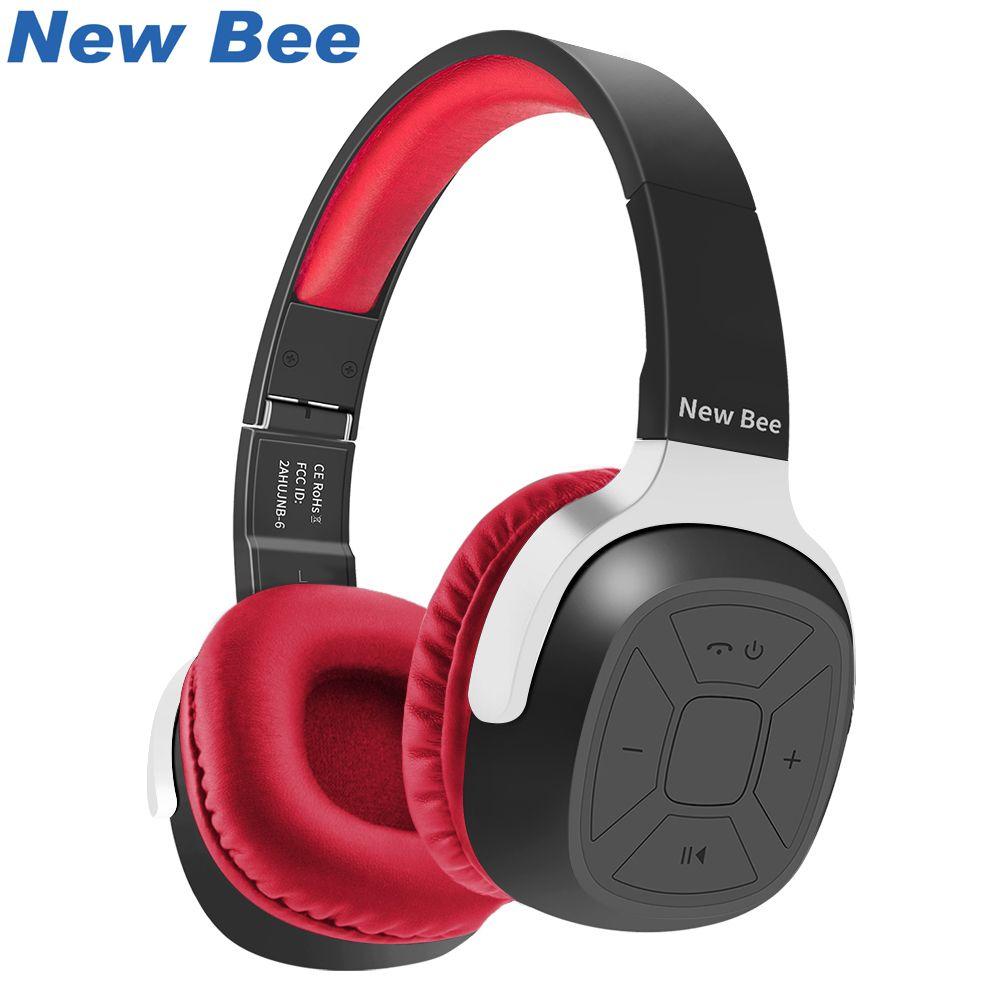 Nouveau Abeille Dossier casque bluetooth Portable casque bluetooth écouteurs de sport avec Micro Podomètre Intra-auriculaires Cas pour Téléphone PC TV